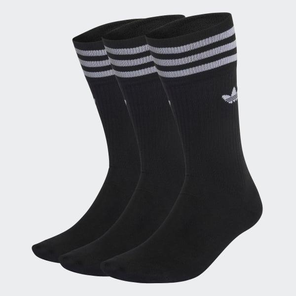 Chaussettes mi-mollet (3 paires) noir S21490