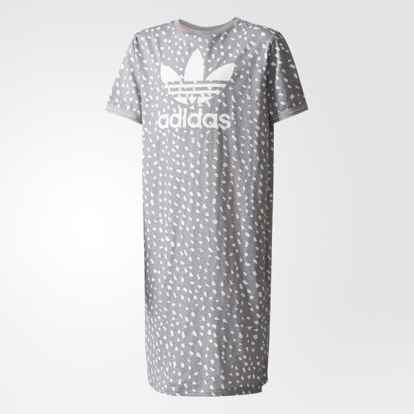 Vestido Camiseta Gris BQ4049