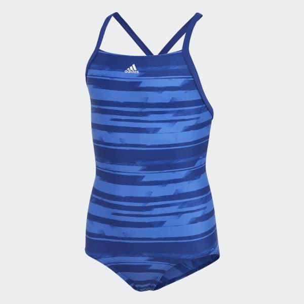 Allover Print Badeanzug blau DL8779