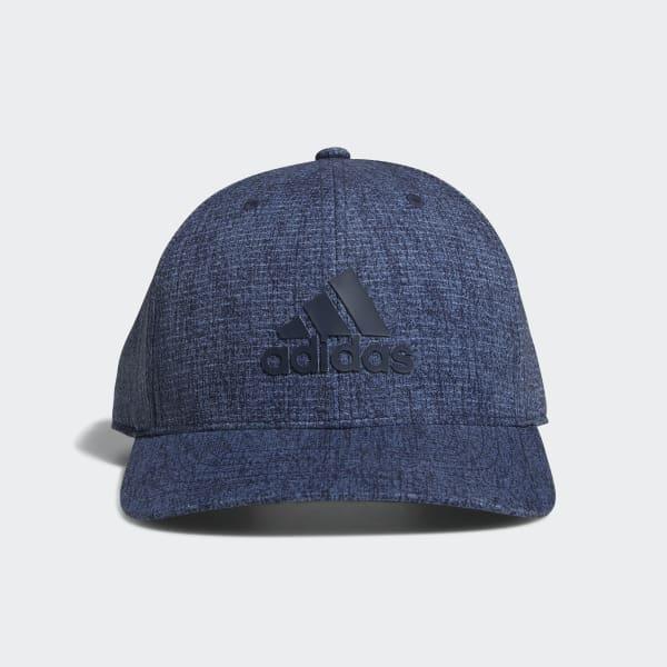 Heathered Snapback Hat Blue CY9750