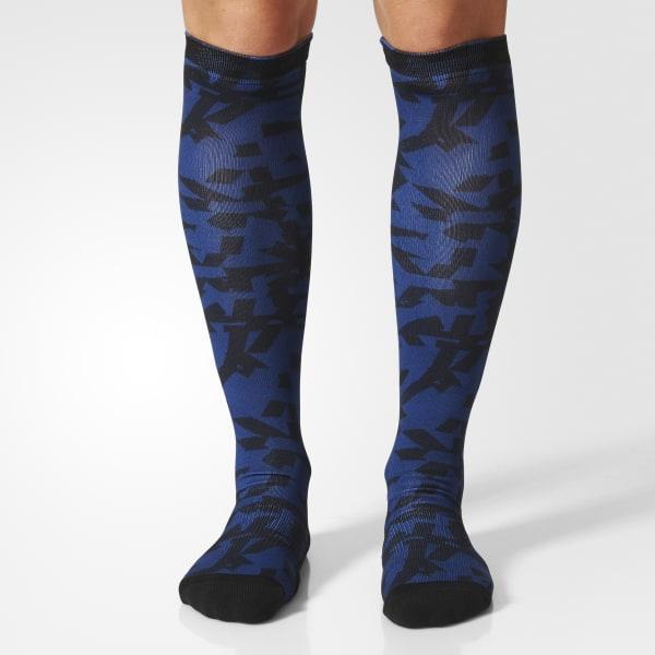 Climalite Graphic Knee Socks 1 Pair Blue BS1761