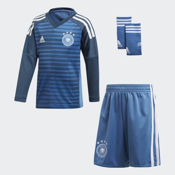 Germany Home Goalkeeper Mini Kit Blue CE1725