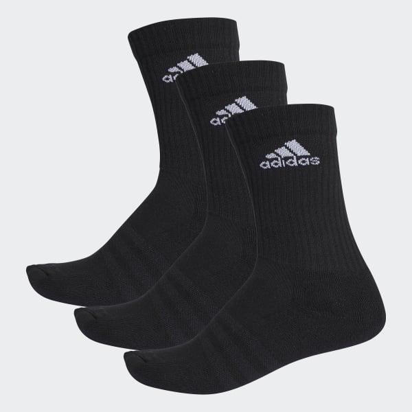 3-Streifen Performance Crew Socken schwarz AA2298