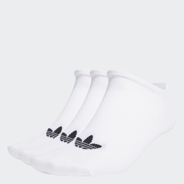 Trefoil Liner Socks 3 Pairs White S20273