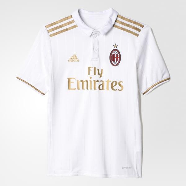 Camiseta Segundo Uniforme AC Milan Blanco AI6889