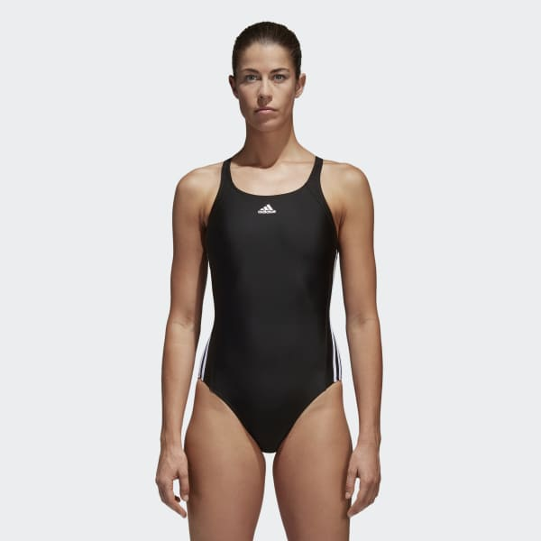 3-Streifen Badeanzug schwarz BP5435