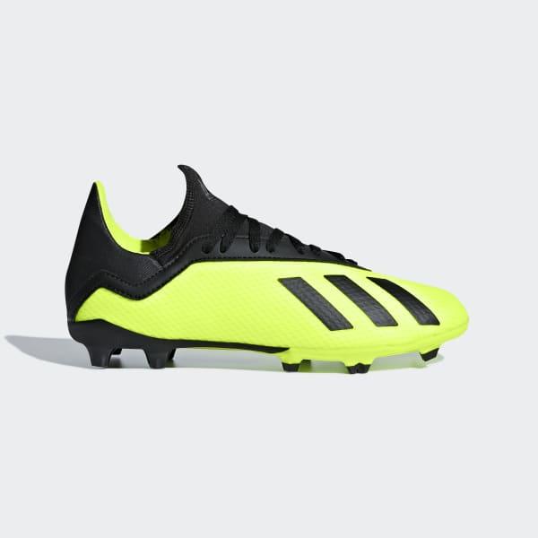 Zapatos de Fútbol X 18.3 Terreno Firme Amarillo DB2418