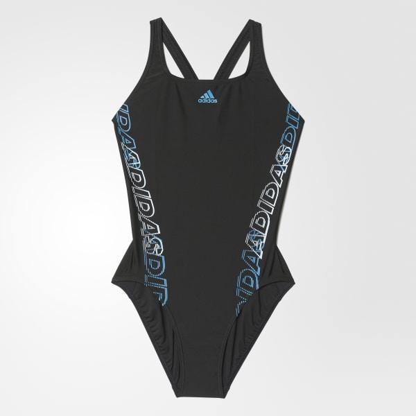 adidas graphic swimsuit Black AY2852