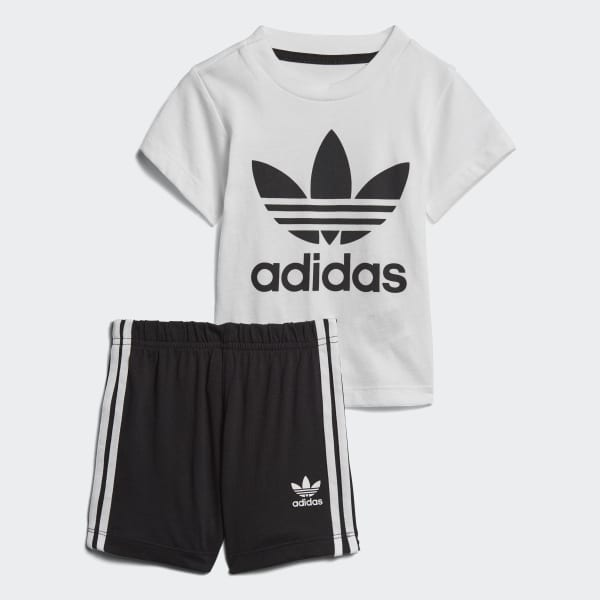 Completo Shorts and Tee Bianco CE1993