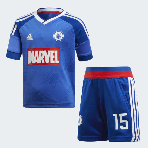 Ensemble Marvel Spider-Man Football bleu DI0198