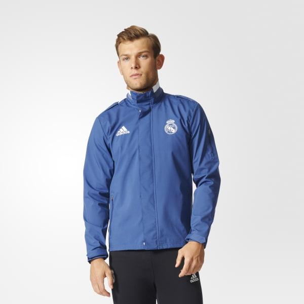 Real Madrid Travel Jacke blau B44988