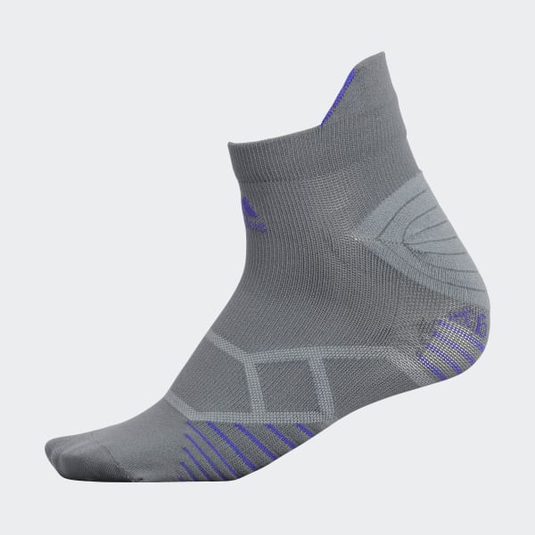Energy Running Tab Low Socks Large Grey H77400