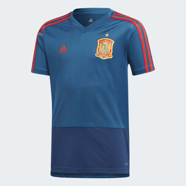 Spanien Trainingstrikot blau CE8823