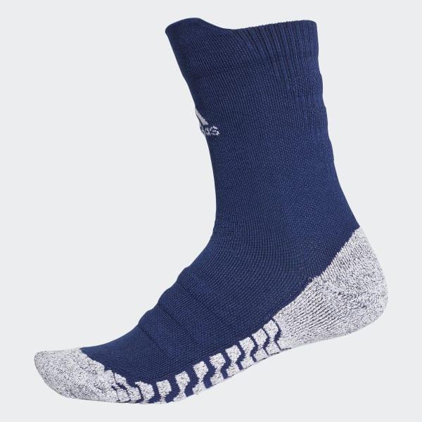 Alphaskin Traxion Lightweight Cushioning Crew Socks Blue CV7579