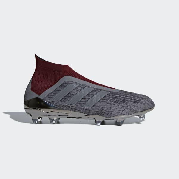 Bota de fútbol Paul Pogba Predator 18+ césped natural seco Gris AC7457