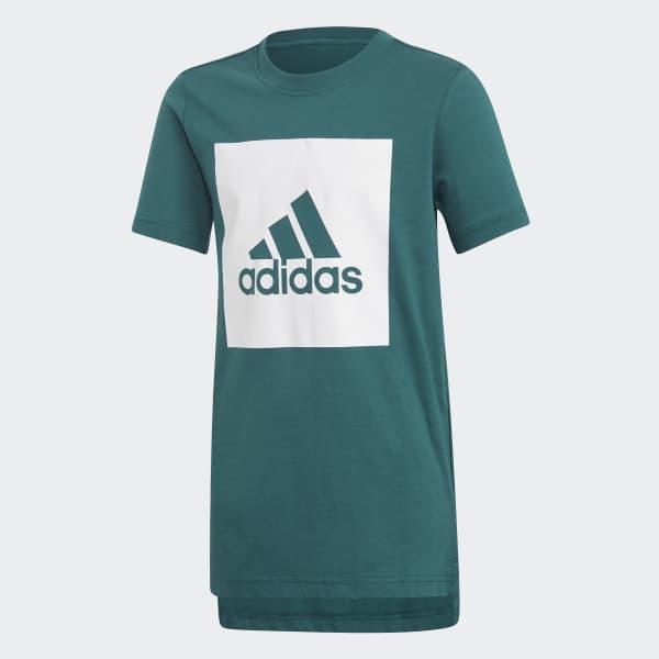 Camiseta Essentials Logo Verde DJ1748