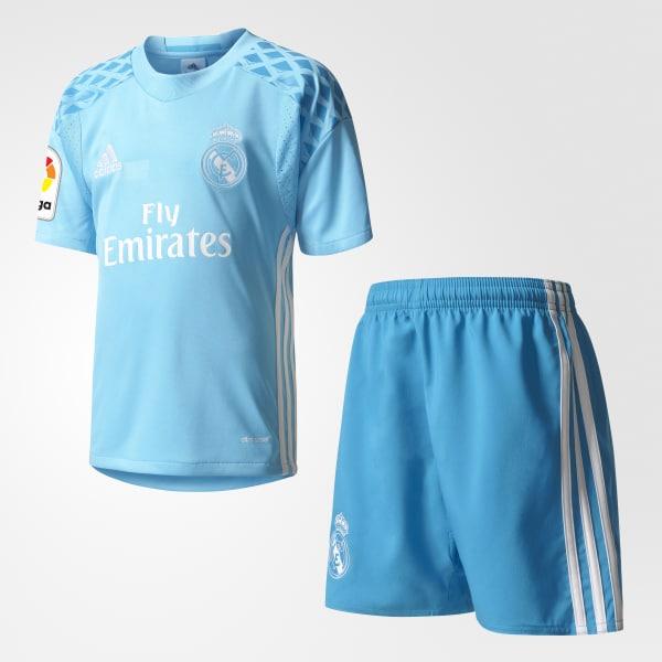 Mini kit Gardien de but Real Madrid Domicile bleu AI5181