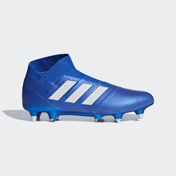 Calzado de fútbol Nemeziz 18+ Terreno Suave Azul DB2068