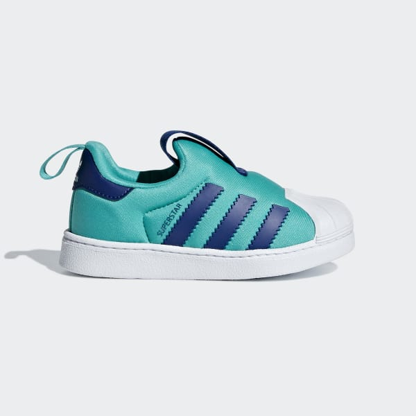 Superstar 360 Shoes Hi-Res Aqua / Mystery Ink / Cloud White B75621