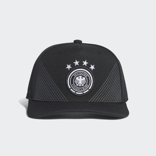Gorra Selección de Alemania Local Visera Plana 2018 Negro CF4950