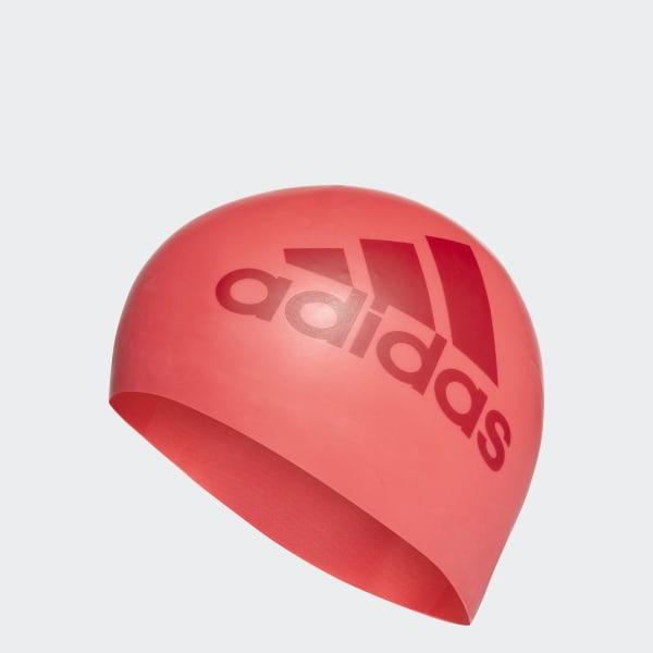 silicone graphic swim cap Orange AJ8654