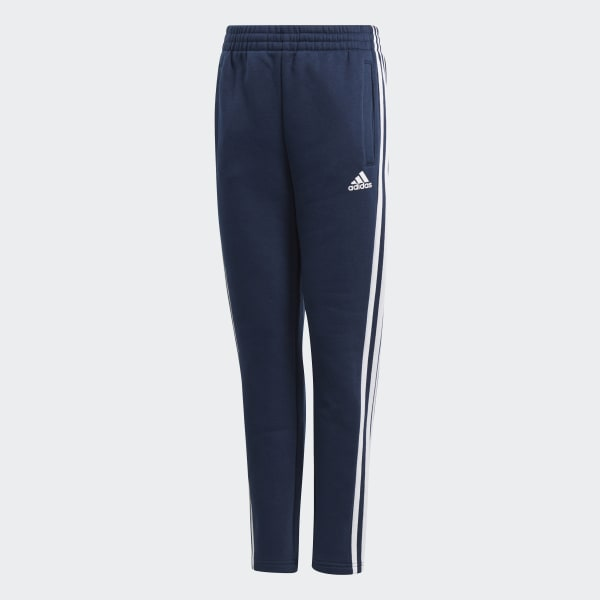 Essentials 3-Stripes Fleece Broek blauw BQ2829