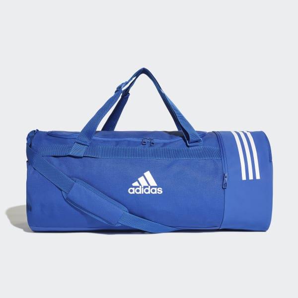 Convertible 3-Streifen Duffelbag L blau DM7788