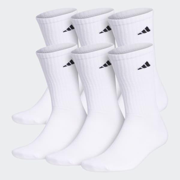 Crew Socks 6 Pairs White 101639