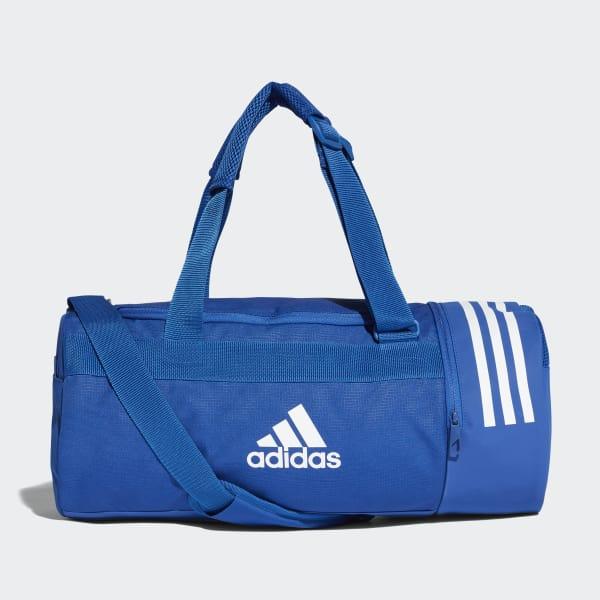 Bolsa 3 Stripes Duffel Pequena Conversível Azul DM7784