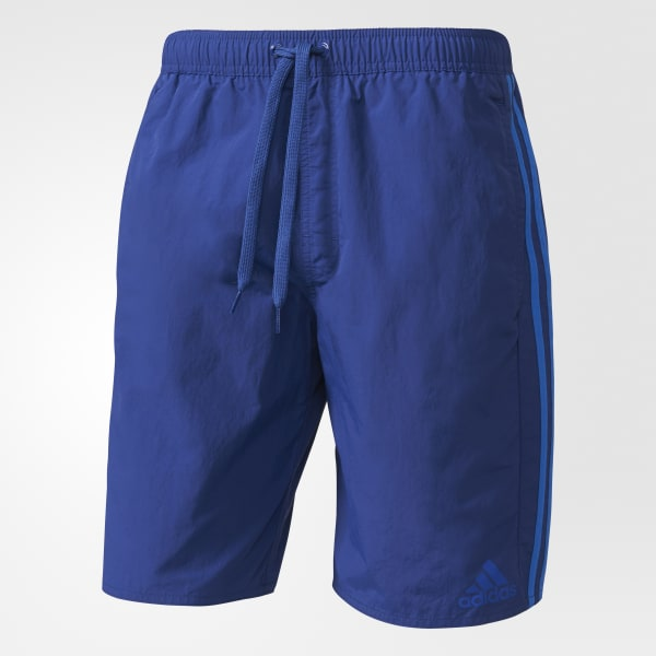 3-Streifen Badeshorts blau AY4423