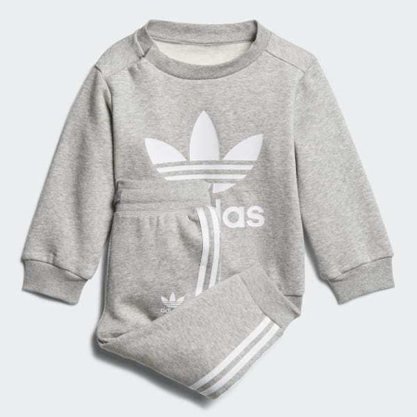 Trefoil Crew Track Suit Grey DL8637