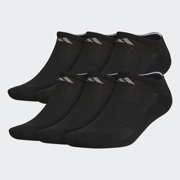 Athletic No Show Socks 6 Pairs Black Q10332