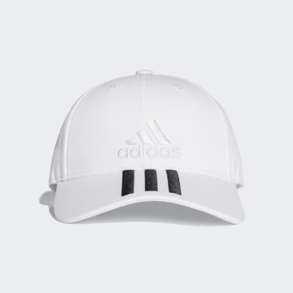 Six-Panel Classic 3-Stripes Hat White BK0806
