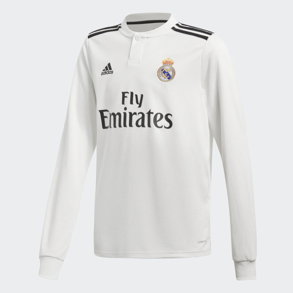 Real Madrid Home Jersey Core White   Black CG0546 d4f3d0a30e