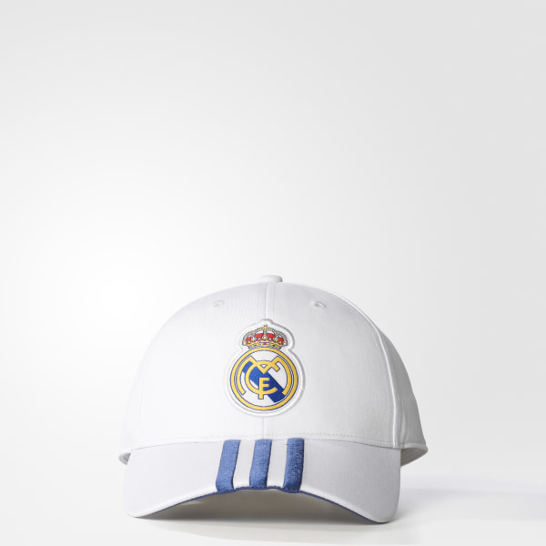 fb016103dd1 Real Madrid Home 3-Stripes Hat Crystal White   Raw Purple S94867