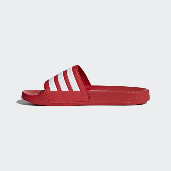 ccf38ae1ba50 Adilette Cloudfoam Slides Scarlet   Footwear White   Scarlet AQ1705