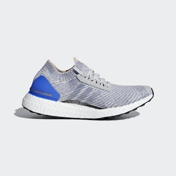 big sale 3b944 6672d Ultraboost X Skor Grey Two   Grey Two   Hi-Res Blue BB6155. Visa din stil.   adidas