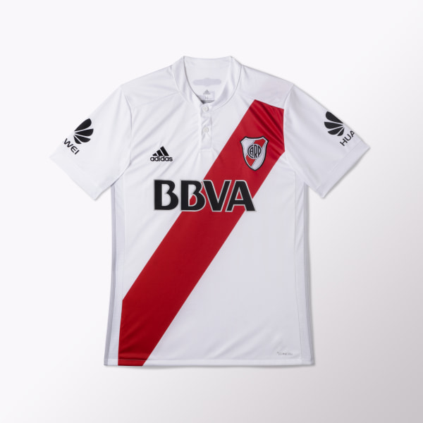 Camiseta Titular River Plate Réplica WHITE LGH SOLID GREY COLLEGIATE RED  BQ5647 6bb76bbc618