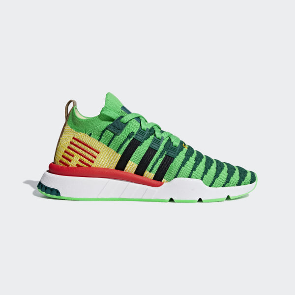 hot sale online 23dde cf1bc Dragonball Z EQT Support Mid ADV Primeknit Shoes Collegiate Green   Core  Black   Bold Gold