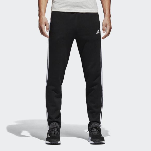 Essentials 3-Stripes Fleece Pants Black   White BK7422 ea473de7ad07c