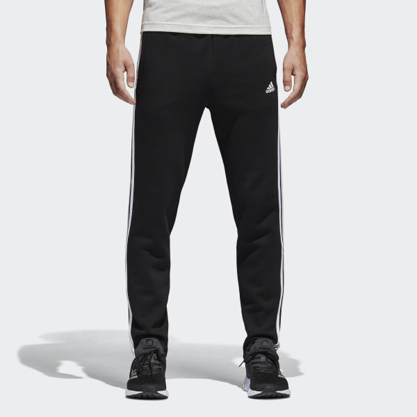 eea41e30cf1405 Essentials 3-Stripes Fleece Pants Black   White BK7422