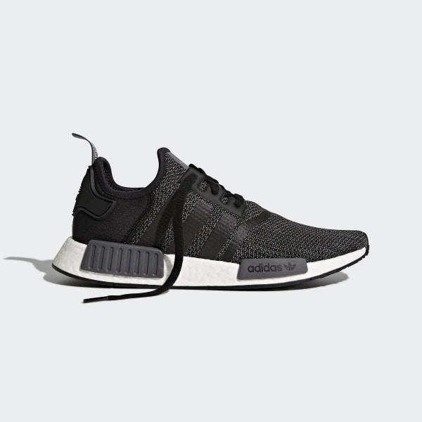 93a130599 NMD R1 Shoes Core Black   Carbon   Cloud White B79758