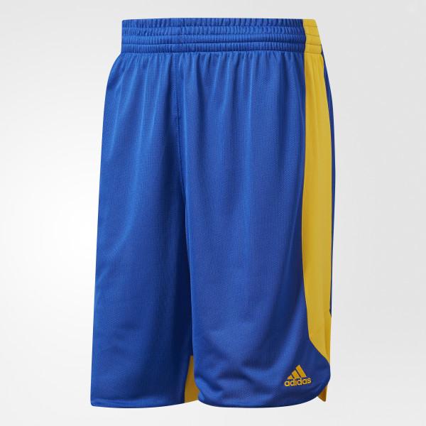 3a1d54cf1d611 Shorts Treino Reversível BLUE-SLD GOLD-SLD CD8686