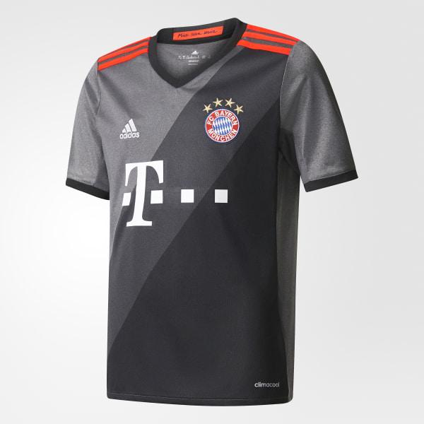 c98f949108294 Jersey de visitante FC Bayern 2016 GRANITE DGH SOLID GREY BLACK AZ4661