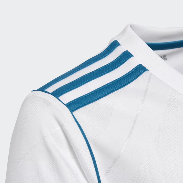Real Madrid Home Replica Jersey White Vivid Teal B31111 bc518bc80
