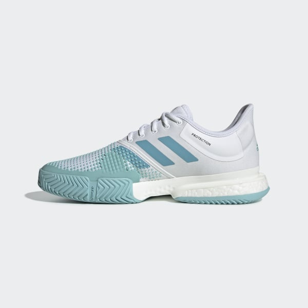 1199cee908e55 SoleCourt Boost Parley Shoes Cloud White   Blue   Blue Spirit G26295