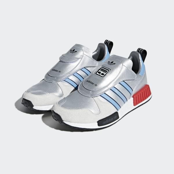 cbf783e1ae8b4 MicropacerxR1 Shoes Silver Metallic   Light Blue   Cloud White G26778