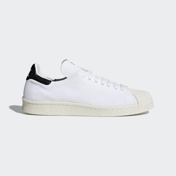 d820a24f9f8 Sapatos Superstar 80s Primeknit Off White   Off White   Core Black CQ2231