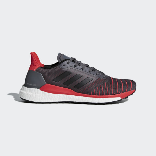 separation shoes 308cd b81dc adidas solar glide grey red ...