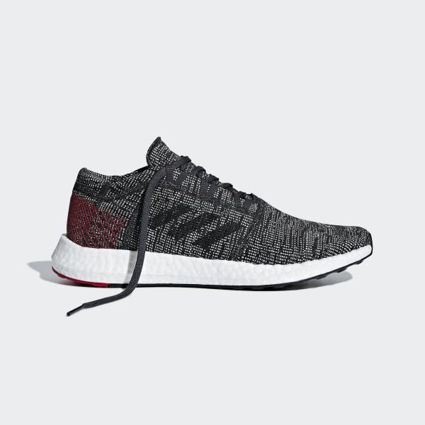 7dd56487aac3b Pureboost Go Shoes Core Black   Core Black   Scarlet AH2323